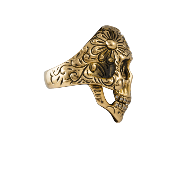 teschio pezzo unico oro e brillanti