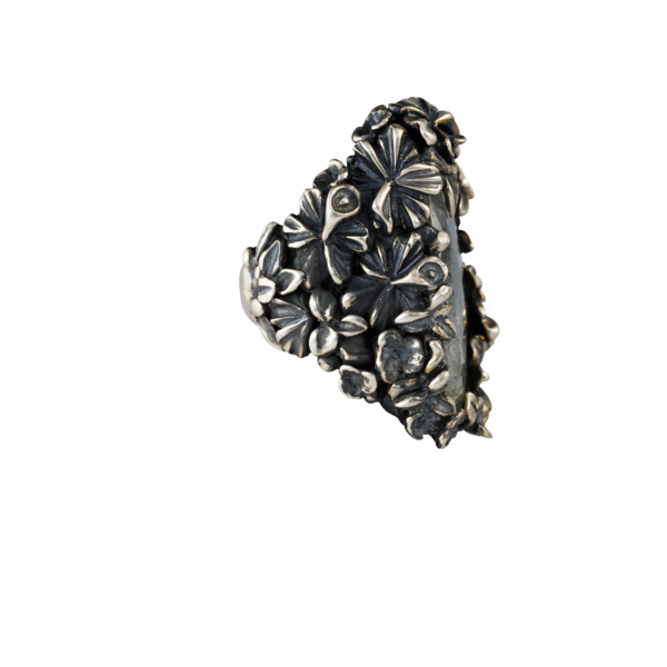 anello fiori pezzo unico