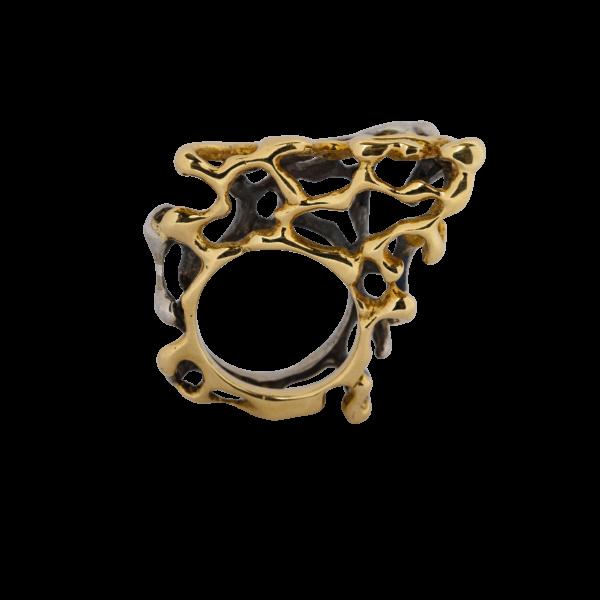 Anello argento e oro